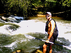 Bob standing at rapid