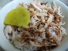 chicken rice- 雞肉絲飯
