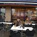 Ishir sitting outside Au Pain Dor???
