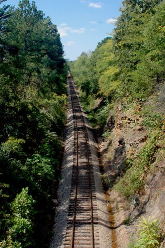 RailRoad in Wellford, South Carolina, USA