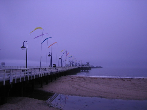 Santa Cruz Wharf in the rain