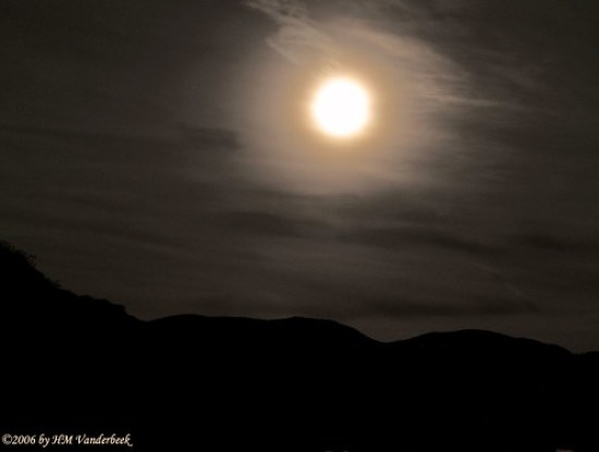 Moon Rise Over the Mountains