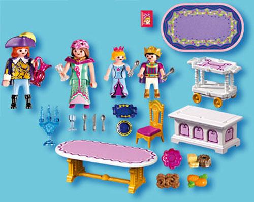 playmobil princess 5145 salle a manger royale