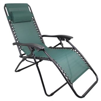 leogreen chaise longue inclinable transat en textilene de jardin 165 x 112 x 65 cm vert avec coussin textilene charge maximale 100 kg
