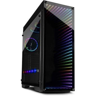 inter tech x 908 infini2 tour noir boitier pc torre pc noir atx itx micro atx mini itx rouge vert bleu ventilateurs du boitier