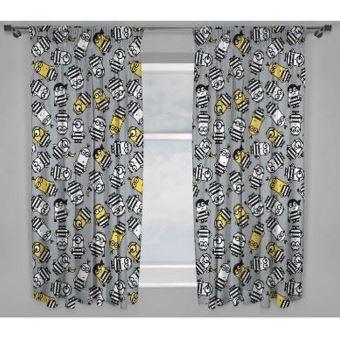 despicable me rideaux 168 x 137 cm gris blanc jaune utsi348