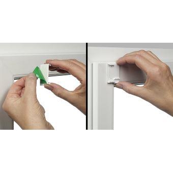 gardinia store enrouleur occultant thermique a coller ou clipser grande reflexion de la lumiere economie d energie opaque kit de montage inclus