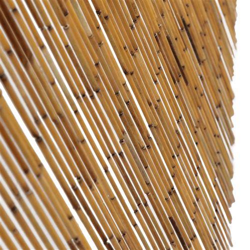 vidaxl rideau de porte contre insectes bambou 90 x 220 cm