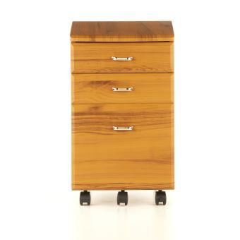 Caisson à tiroirs sur roulettes EKON, teak Hjh Office ...