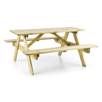 blumfeldt table de pique nique avec banc meuble jardin pour enfants bois