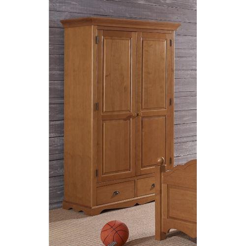 armoire penderie pin miel 2 portes de style anglais