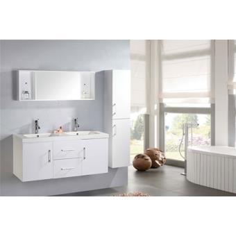 meuble salle de bain double vasque luxe beau meuble double vasque 120 cm modele white malibu