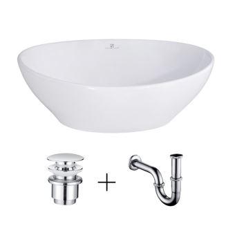 vasque salle de bain lavabo vasque en ceramique blanc vasque a poser ovale avec bonde siphon lave main haut de gamme