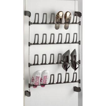range chaussures en acier laque pour porte noir et gris angela petit modele