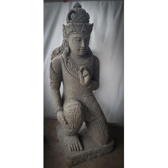 Statue jardin en pierre naturelle déesse assise 1m20 ...