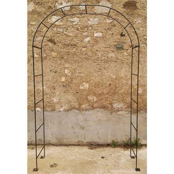 l heritier du temps arche simple arche a fleurs rosiers tuteur plantes de jardin passage en fer forge gris anthracite 40x120x239cm