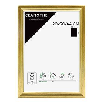 cadre photo dore 20x30 cm resine plastique marque francaise