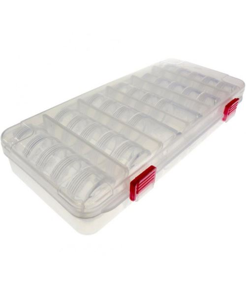 coffrets et boites boite de rangement pour perles et pierres 27x12 x45 cm translucide