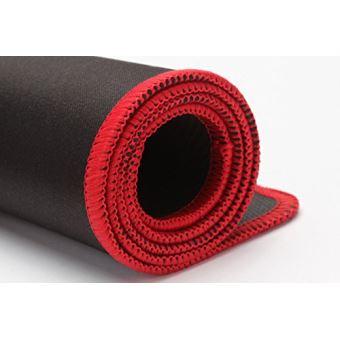 cabling tapis de souris gaming xxl grand sous main bureau tapis souris gamer 580x300x4mm noir contour rouge
