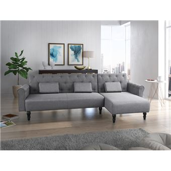 canape d angle convertible chester 267cm gris