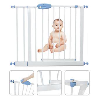 leogreen barriere securite bebe barriere de securite sans percage extensible de 88cm a 101 cm easy lock avec une main