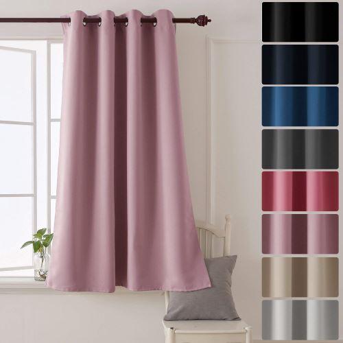 deconovo rideaux a oeillets occultant isolant thermique rose pale rideau chambre adultes design moderne pour enfant en salon 132x138 cm