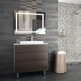 24w Miroir Led Lampe De Miroir Eclairage Salle De Bain 1000x600mm Blanc Froid 6500k Accessoires Salles De Bain Et Wc Achat Prix Fnac