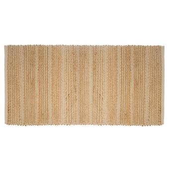 tapis rectangulaire design jute chenil l 70 x l 140 cm blanc