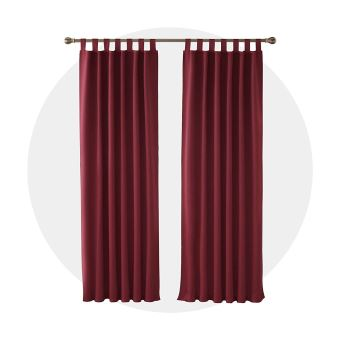 deconovo lot de 2 rideaux occultants thermique a pattes 140x210cm rouge rideaux isolant phonique rideaux chambre adulte