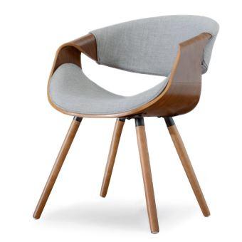 chaise design chaise salle a manger bential 56 cm noyer gris pietement en bois style contemporain