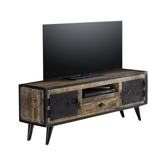 kufarche seya metal meuble tv fer