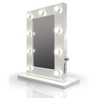Miroir De Maquillage Hollywood Ultra Blanc Avec Ampoules Led K217led Achat Prix Fnac