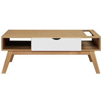 miliboo stephane plaza table basse scandinave blanc et bois clair neela