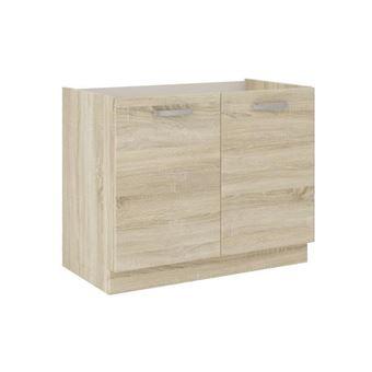 lassen meuble bas sous evier 80 cm decor chene clair sonoma
