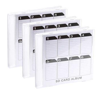boite de rangement pour cartes sd format cd x3