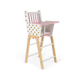 chaise haute poupees poupons candy chic bois