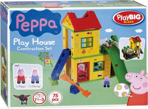 l aire de jeux de peppa pig avec la figurine peppa et georges coffret de 75 pieces jeu de construction