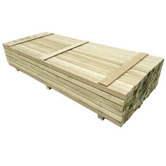 vidaxl 96x poteau de cloture bois de pin impregne lattes piquets de cloture