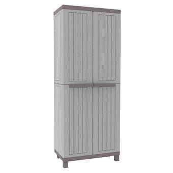 armoire haute de jardin en resine range balai terrasse exterieur 3680