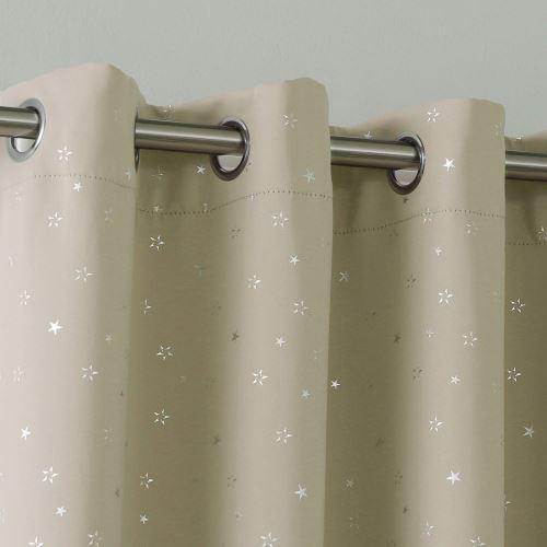 rideaux occultant thermiques beige