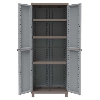 armoire haute de jardin en resine avec tablettes pour terrasse 2680