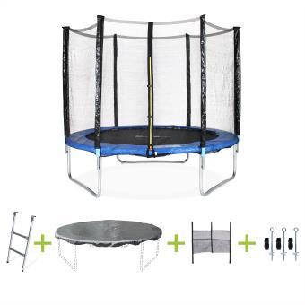 trampoline pluton xxl o 250cm avec accessoires alice s garden