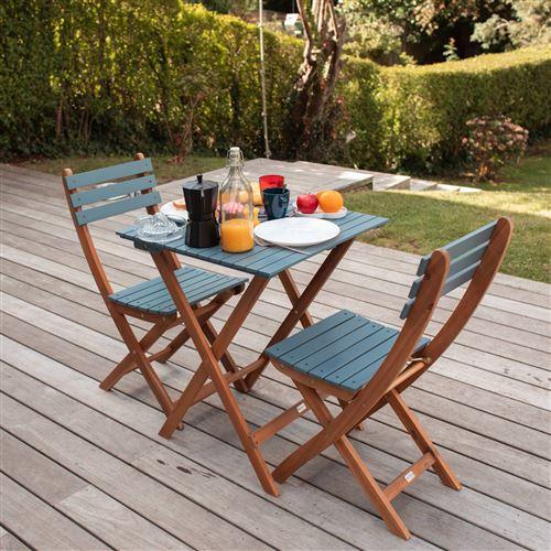 2 chaises pliables barcelona bois
