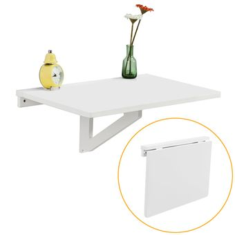 sobuy fwt03 w table murale rabattable en bois table de cuisine table enfant