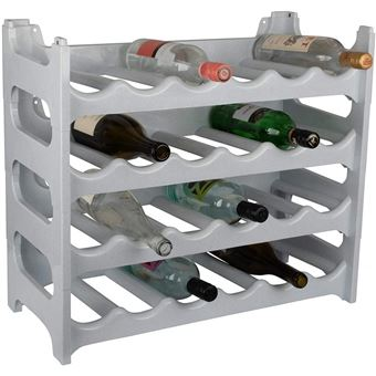 cave a vin modulable etagere a bouteille casier a bouteille range bouteille porte bouteille 24 emplacements de bouteilles gris granite
