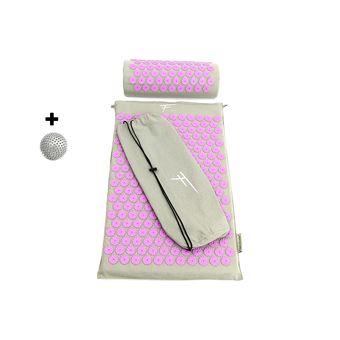 fitem kit d acupression tapis d acupression coussin sac boule de massage soulage douleurs dos et cou relaxation musculaire