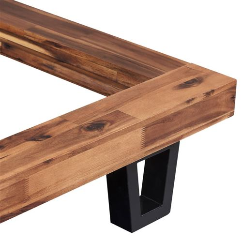 vidaxl cadre de lit bois d acacia massif 140 x 200 cm