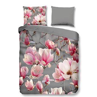 Muller Textiles Parure De Lit Fleurs Cerisier Du Japon Rose Gris 200x200 Cm Achat Prix Fnac