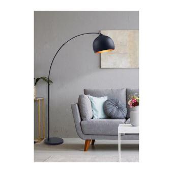 daisy lampadaire arc reflecteur metal noir l 30 x p 110 x h 170