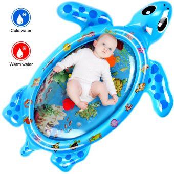 102 82cm tapis d eau matelas sol gonflable jouet bebe educatif en forme tortue bleu lewindeal